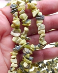 Yellow African Turquoise Bead Chips, aka Lemon Turquoise Chips