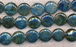 Blue Kyanite Beads, 16mm Coin Beads Strand