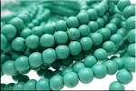 6mm Round Magnesite Turquoise Beads