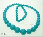 Graduated Turquoise Beads, 6mm to 14mm Gemstone Necklace Beads - CLEARANCE