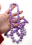Purple Magnesite Graduated Gemstone Necklace Beads - CLEARANCE