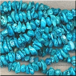 Turquoise Magnesite Chip-Nuggets, avg4.5x8x10mm
