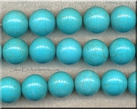 18mm Round Turquoise Beads, Large Magnesite Beads