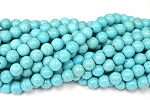 Turquoise Beads, 10mm Round Gemstone Beads - CLEARANCE