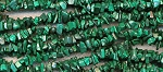 Malachite Beads, Natural Malachite Chips Long Strand