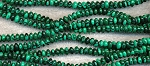 6mm Malachite Rondelle Beads Strand - CLEARANCE