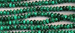 8mm Rondelle Malachite Beads - CLEARANCE