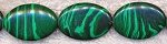 Malachite Beads, 25x18mm Oval Malachite Beads Strand - CLOSEOUT
