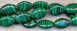 Malachite Beads, 14x10mm Oval Malachite Beads Strand - CLOSEOUT