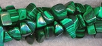 Malachite Beads, Malachite Chip Nugget Beads Strand - CLOSEOUT