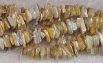 Mother of Pearl Beads, Natural Mother of Pearl Chips Strand avg 3x6x8mm