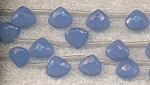 Opaque Blue Crystal Briolette Beads, 11x12mm, Strand, CLEARANCE