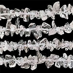 Quartz Crystal Chips, Quartz Crystal Gemstone Beads, Long Strand