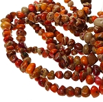 Orange Sea Sediment Jasper Beads, Sea Sediment Jasper Pebbles-Nuggets, Full Strand