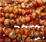 Orange Sea Sediment Jasper Pebble Beads Strand Sea Sediment Jasper Nuggets