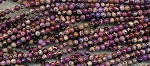 Purple Sea Sediment Jasper Beads, 4mm Round Sea Sediment Jasper Beads