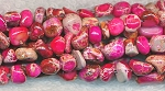 Pink Sea Sediment Jasper Pebble Nuggets Jasper Beads, Gemstone Beads Strand
