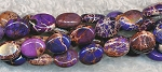 Purple Sea Sediment Jasper Beads, 8x6mm Oval Beads, Strand