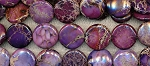 20mm Coin Purple Sea Sediment Jasper Beads Strand