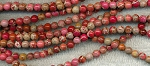 6mm Round Mixed Red Sea Sediment Jasper Beads Strand