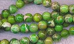 Green Sea Sediment Jasper Beads, 8mm Round, Strand