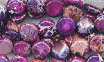 Purple Imperial Sea Sediment Jasper Beads 12mm Coin Beads Strand