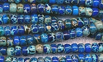 Blue Sea Sediment Jasper Beads, 6mm Rondelle Beads