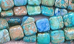 Square Sea Sediment Jasper Beads