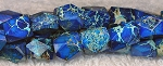 Faceted Blue Sea Sediment Jasper Nuggets