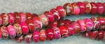 Fuchsia Sea Sediment Jasper Beads, 8mm Rondelle, Strand