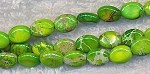 Gaspiete Green Sea Sediment Jasper Beads, 8x6mm Oval