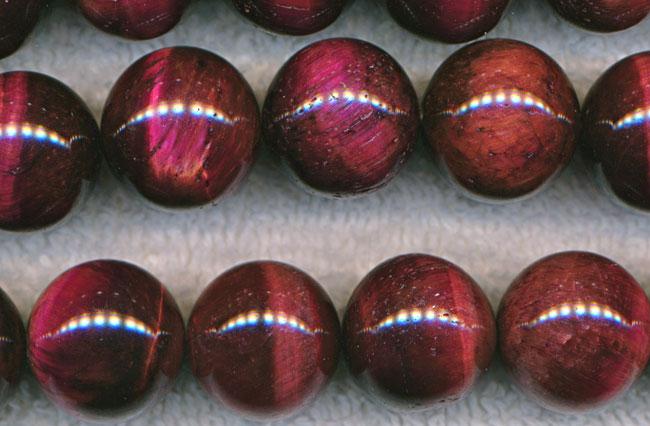 Red Tiger Eye Beads 16mm Round