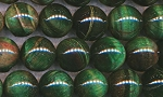 14mm Round Green Tigers Eye Beads