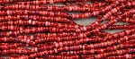 4mm Red Magnesite Heishi Spacer Beads