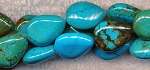 Turquoise Beads, Teardrop Gemstone Turquoise Beads, 18x14x6mm Teardrop Beads