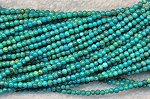 Natural Turquoise Beads, 2mm Round