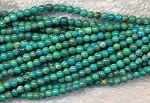Natural Turquoise Beads 3mm Round Beads Strand