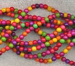 Howlite Beads, 4mm Round Howlite Beads, Multicolor Gemstone Beads - CLEARANCE