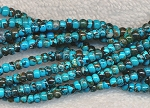 Natural Turquoise Beads, 4mm Rondelle Gemstone Beads, Strand