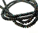 Natural Dark Turquoise Beads, 6mm Rondelle