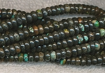 Natural Dark Turquoise Beads, 6mm Rondelle Beads, Strand