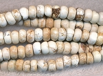 White Turquoise Magnesite Beads, 8mm Rondelle Beads - CLEARANCE