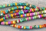 Multicolor Magnesite 4mm Heishe Beads