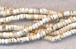 4mm White Turquoise Magnesite Heishe Beads - CLEARANCE