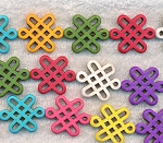 Multi-Colorful Magnesite Celtic Knot Beads, Gemstone Celtic Beads
