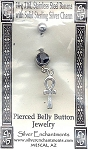 Sterling Silver Ankh Belly Ring