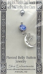 Sterling Silver Moon Belly Ring