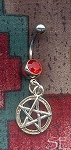 Sterling Silver Pentacle Belly Ring