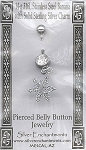 Sterling Silver Snowflake Belly Ring, Snowflake Body Jewelry