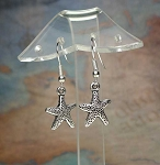Silver Small Starfish Earrings - Everyday Nautical Jewelry
